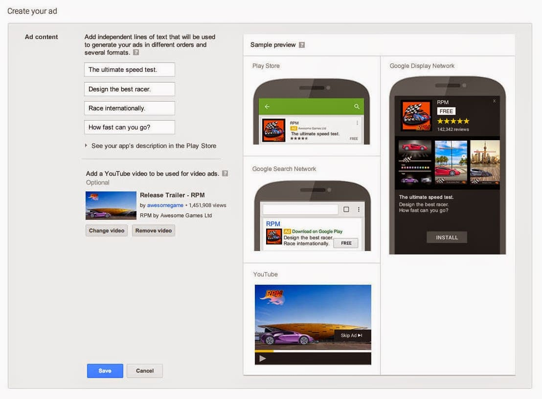 Universal App Campaigns