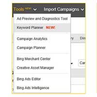 Keyword Planner Bing Ads
