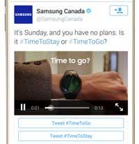 Conversional Ads di Samsung Twitter